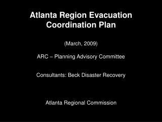 Atlanta Region Evacuation Coordination Plan