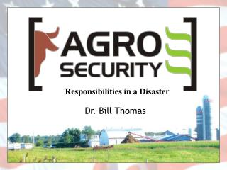 Responsibilities in a Disaster
