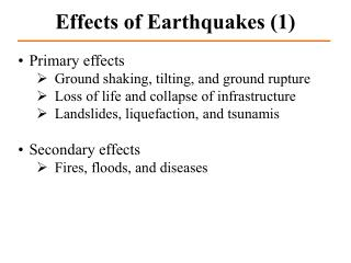 Effects of Earthquakes (1)