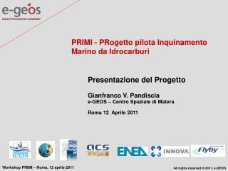 PRIMI - PRogetto pilota Inquinamento Marino da Idrocarburi