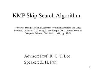 KMP Skip Search Algorithm
