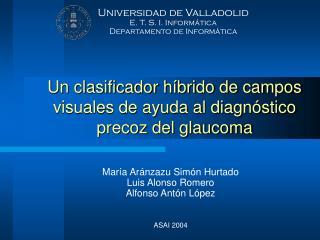 Un clasificador híbrido de campos visuales de ayuda al diagnóstico precoz del glaucoma