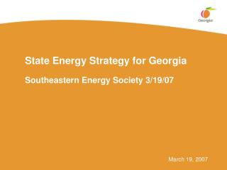 State Energy Strategy for Georgia