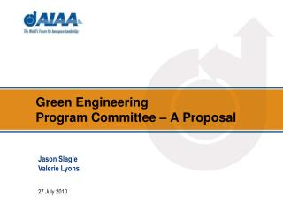 Green Engineering Program Committee – A Proposal