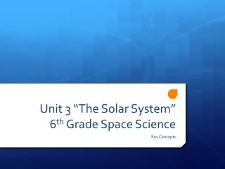 "Unit 3 ""The Solar System""  6 th  Grade Space Science"