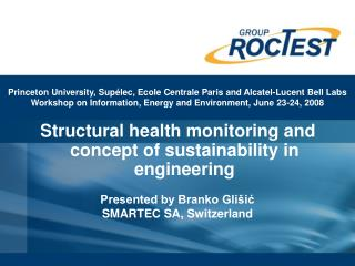 Structural health monitoring and  concept of sustainability in engineering