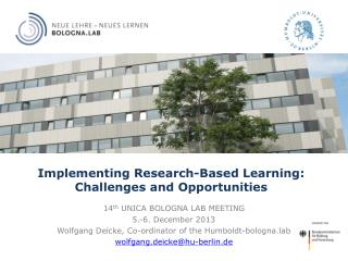 Implementing Research-Based Learning: Challenges and Opportunities