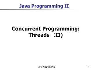 Java Programming II