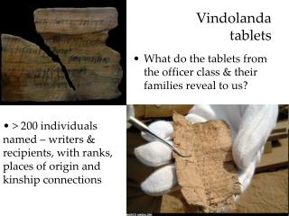 Vindolanda  tablets