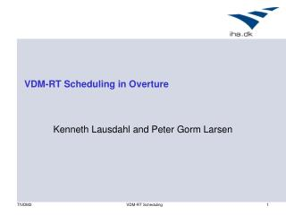 VDM-RT Scheduling in Overture