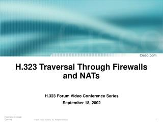 H.323 Traversal Through Firewalls and NATs