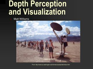 Depth Perception  and Visualization