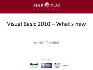Visual Basic 2010 – What's new