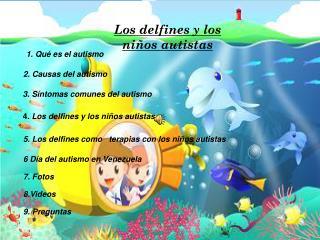 Los delfines y los niños autistas