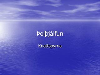 Þolþjálfun