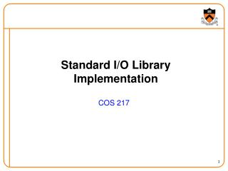 Standard I/O Library Implementation