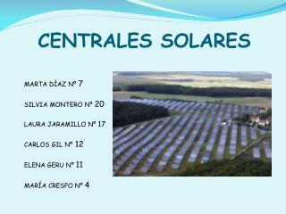 CENTRALES SOLARES
