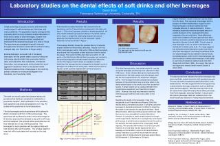 Laboratory studies on the dental effects of soft drinks and other beveragesSarah StoryTennessee Technology University