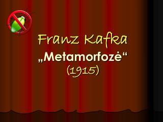Franz Kafka � Metamorfoz ?� (1915)