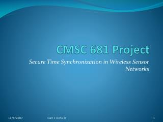 CMSC 681 Project