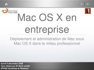 Mac OS X en entreprise
