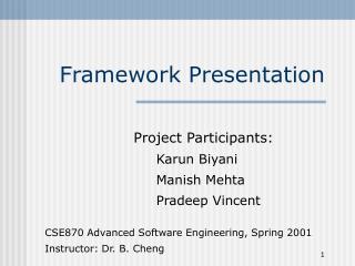 Framework Presentation