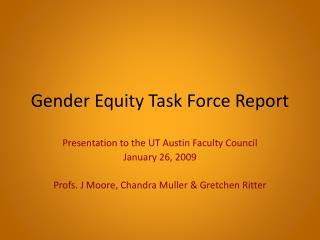 Gender Equity Task Force Report