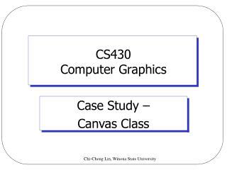 CS430  Computer Graphics