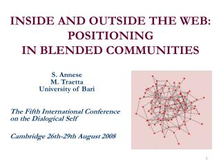 INSIDE AND OUTSIDE THE WEB: POSITIONING IN BLENDED COMMUNITIES