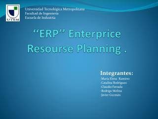 ''ERP''  Enterprice Resourse Planning  .