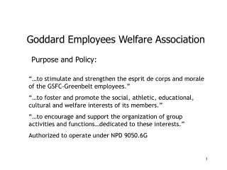 Purpose and Policy: