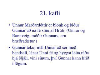 21. kafli
