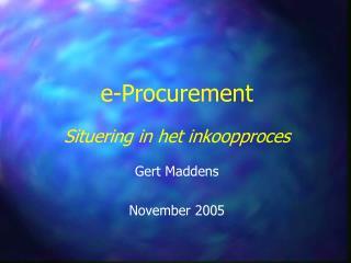 e-Procurement Situering in het inkoopproces