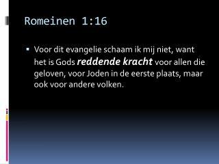 Romeinen 1:16