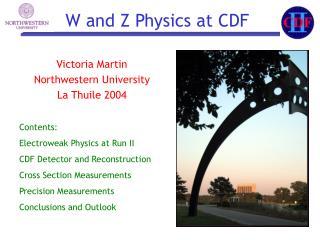 Victoria Martin Northwestern University La Thuile 2004