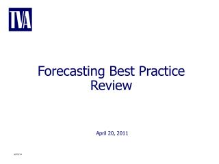 Forecasting Best Practice Review