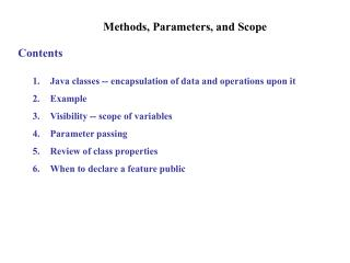 Methods, Parameters, and Scope
