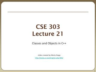 CSE 303 Lecture 21