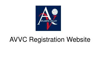 AVVC Registration Website