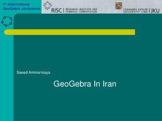GeoGebra In Iran
