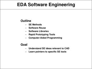 EDA Software Engineering