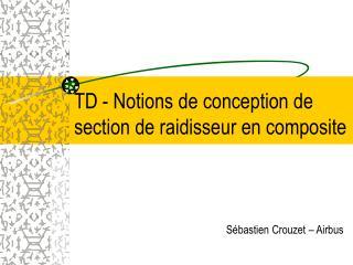 TD - Notions de conception de section de raidisseur en composite