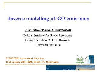 Inverse modelling of CO emissions