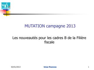 MUTATION campagne 2013