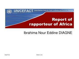 Report of  rapporteur of Africa