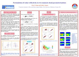 Formulation of radar reflectivity in two moment cloud parameterizations