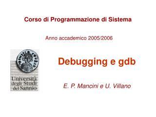 Corso di Programmazione di Sistema Anno accademico 2005/2006