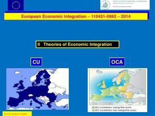 II    Theories of Economic Integration