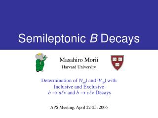 Semileptonic  B  Decays