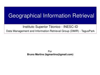 Geographical Information Retrieval